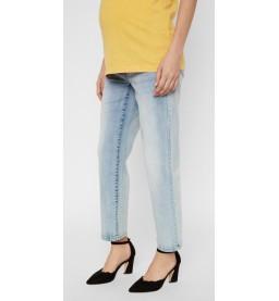 Marbella rib cropped Mom Jeans