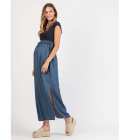 0263-46010 Kleid lang Jeans