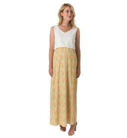 Robe longue Caterina print indienne jaune