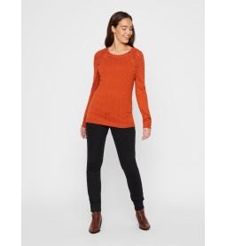 Lianna L/S knit Top Auburn
