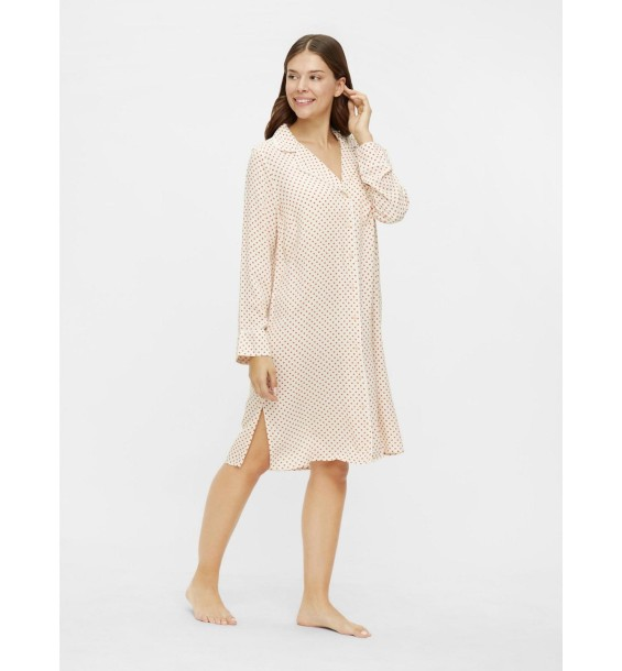 Alba Lia ls woven night shirt dots