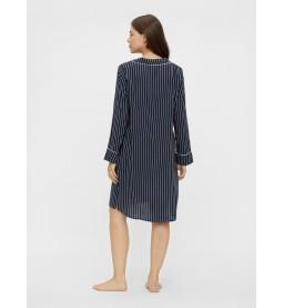 Alba Lia ls woven night shirt stripes
