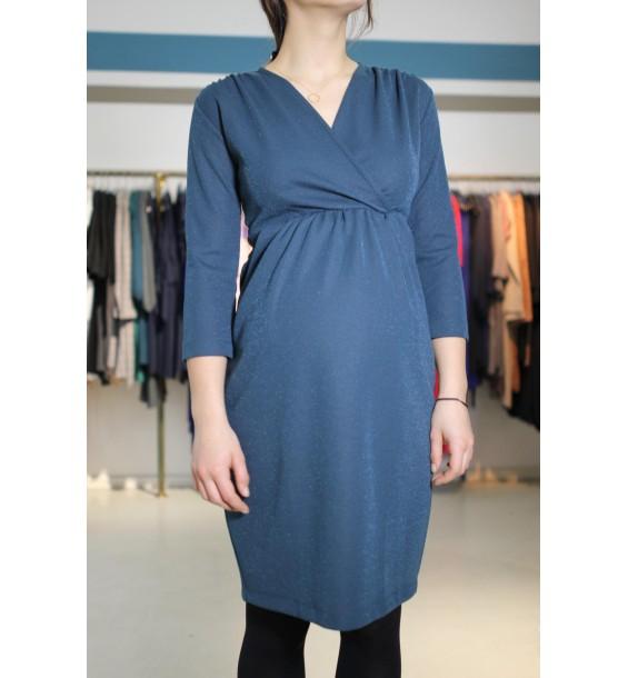 Comfy dress 7/8 Sleeves sparkling petrol