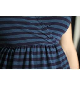 comfy dress  short sleeves petrol/navy