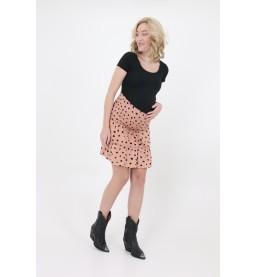 Mini skirt Ruffle dots