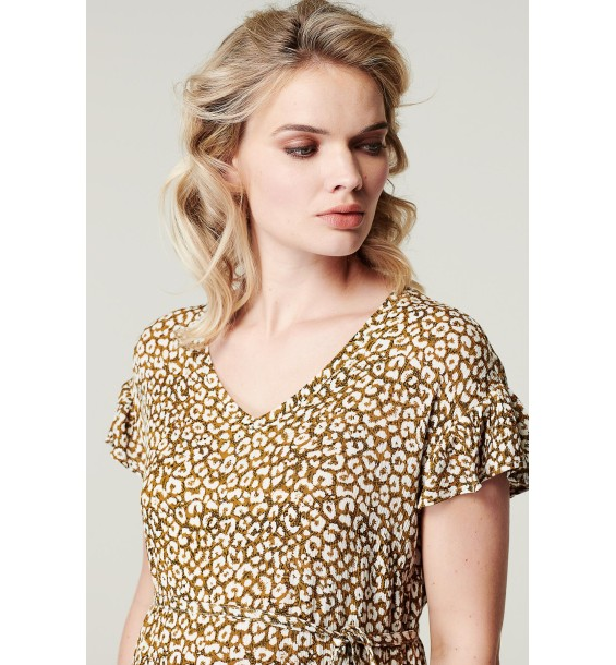 Dress AOP woven Leopard